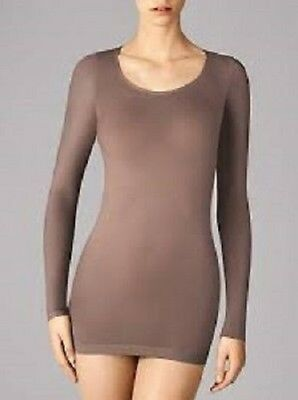 Wolford Buenos Aires Pullover, transparent, powdery look, nahtlos,clove, S=38-40