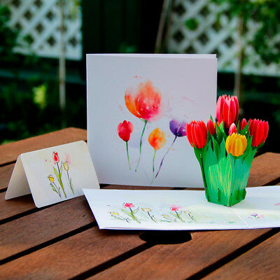 20X(Mother's Day creative 3d greeting card Handmade holiday wishes Thanksg P4Y6)