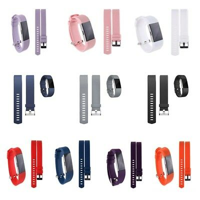 10 Colour Soft Silicone Replacement Spare Band Strap for Fitbit Charge 2 UK