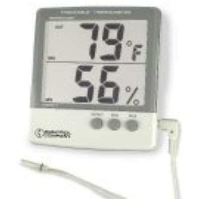 Digital Thermometers Thomas 4184 ABS Plastic Traceable Jumbo Thermo-Hygrometer,
