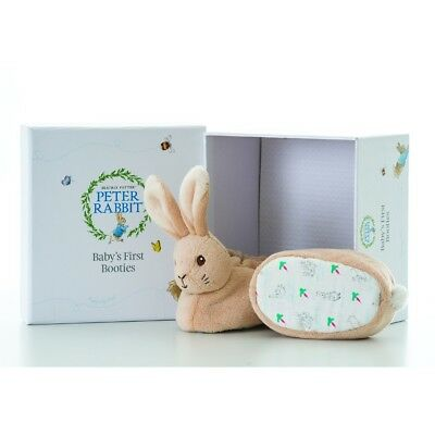 PETER RABBIT GIFT BOXED -  BABY'S FIRST BOOTIES -  GIFT SET (0-6months)
