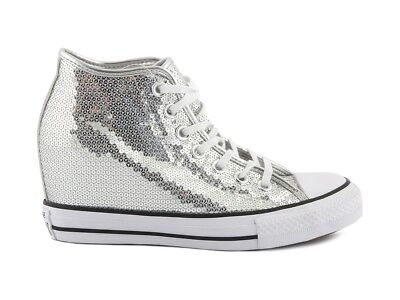 556781C CONVERSE ALL STAR CT LUX MID 556781C ARGENTO