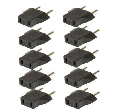 10PCS Plug US USA to AC Power EU Euro Europe Converter Adapter Charger Travel