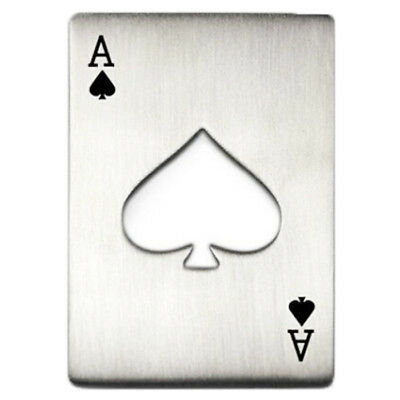 Portable Poker Card Design Bottle Opener (Silver) B8D5