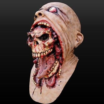 Sale Halloween Bloody Zombie Mask Melting Face Adult Latex Costume Walking Dead