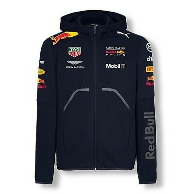 2018 RED BULL Racing F1 Team Sweat Hooded Jacket Zip Hoody MENS – New OFFICIAL
