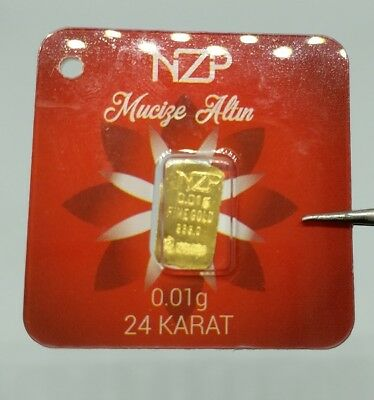 1 pice 0,01 gram 995,0 1/100 gr world smallest lucky gold bar gift real gold