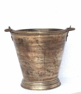 1900's Vintage Indian Antique Hand Crafted Brass Water Bucket PA-41
