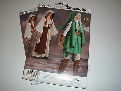 SIMPLICITY PATTERN 8199 501 ZELDA WARRIOR COSPLAY COSTUME MISSES 6 ...