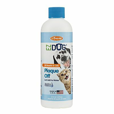 Triple Pet EZ Dog Plaque Off Fresh Breath Drinking Water Additive for Dogs and