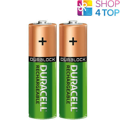 2 DURACELL RECHARGEABLE AA BATTERIES 1.2V HR6 NiMH 2500mAh MIGNON STILO NEW