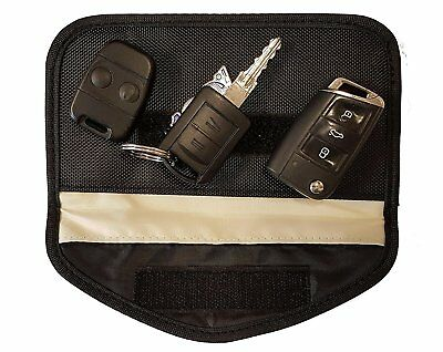 Phone Car Key Keyless Entry Fob Signal Guard Blocker Black Faraday Bag - Large