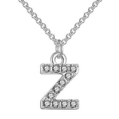 Pave Initial Necklace Letter Z Created with Swarovski® Crystals by Philip Jones