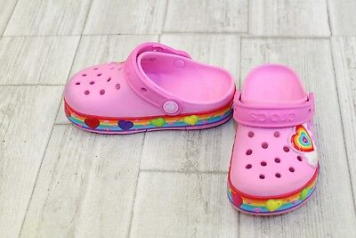 **Crocs Kids Crocband Fun Lab Lights Clog - Toddler Girl's Size 10 - Pink