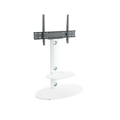 "Satin White TV Stand Cantilever with TV Mount Bracket 32-60/"" LED LCD Curved LD"