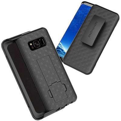 Samsung Galaxy S8 Holster Case, Secure Holster Shell & Kickstand Combo 180° NEW