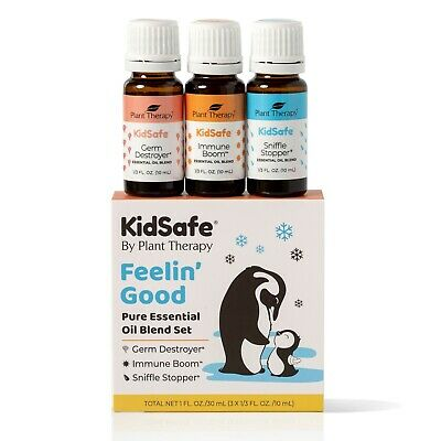 Plant Therapy Essential Oils KidSafe Wellness Sampler Set 10 mL (1/3 oz)
