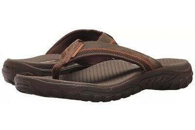 66e957f94739 Skechers Mens 65460 BRN Relaxed Fit-Reggae-Cobano Flip Flop Brown Size 13