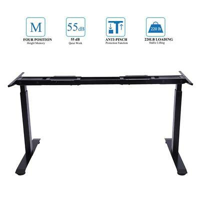Sunon Ergonomic Electric Height Adjustable W/Dual Motor Stand UP Desk Frame Sit