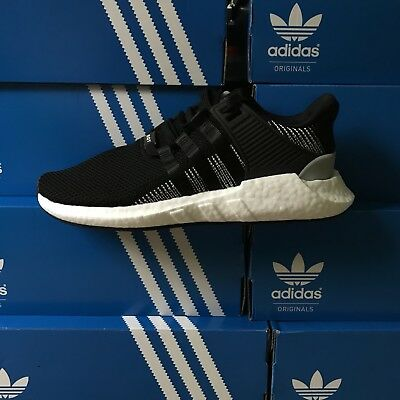 low priced 6d84c fd32f Adidas EQT Support 9317 Boost Size 9 Core Black White Running Shoes BY9509