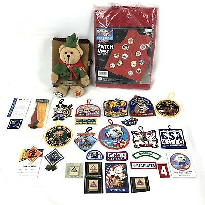 Lot of Boy Scouts Of America BSA Misc Badge Patches Vest Photo Album VegasStrong