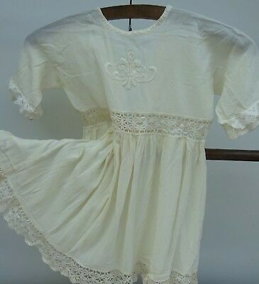 Superb Handmade & Embroidered Girls Dress Baby Dolls Victorian Edwardian Antique