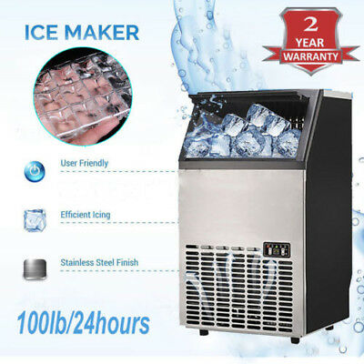 Commercial Ice Maker Stainless Steel Built-In Undercounter Freestand  115V/100lb