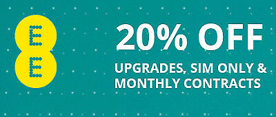 EE 20% off Discount Code All Pay Monthly Plans