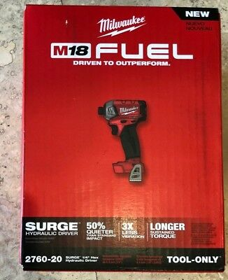 MILWAUKEE 2760-20 M18™ FUEL™ SURGE™ 1/4 In. Hex Hydraulic Impact Driver (NEW)