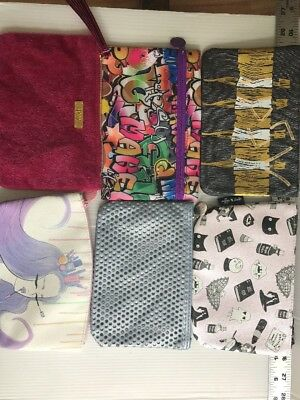 Ipsy Glam Bags LOT of 6 Zippered Storage Makeup Bags Clutch - FreeUSAship