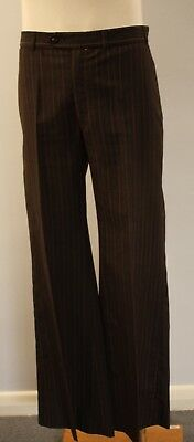 SMALL, ORIGINAL VINTAGE MENS 1970s FLAIRED PANTS.