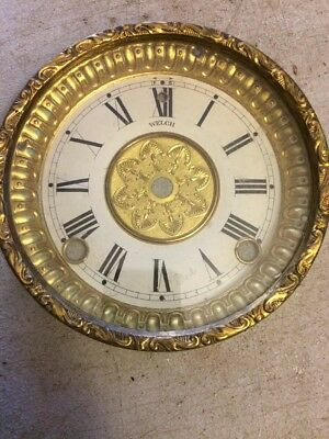 Welch  Mantle Clock  Dial And Bezel With Glass