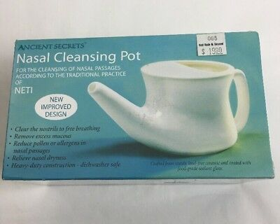 LNasal Cleansing Pot Ancient Secret Neti NEW