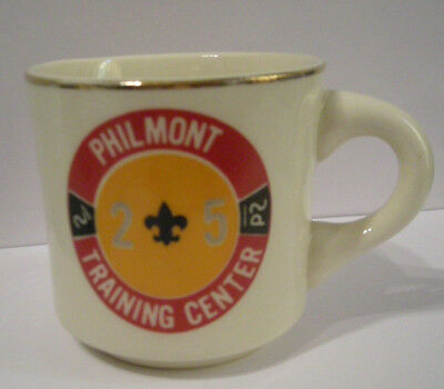 Boy Scout BSA Mug Cup Philmont Scout Ranch Training Center 25th Anniversary Rare