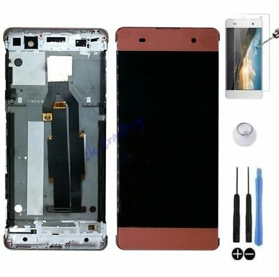 Ecran Lcd + Vitre Tactile Sur Chassis Bloc Complet Pour Sony Xperia Xa Rose Or