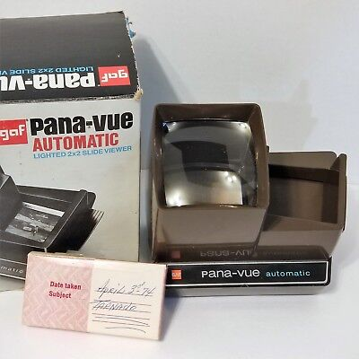 Panavue 36 Slide Viewer, Automatic Lighted,  22 Slides Tornado Aftermath Indiana