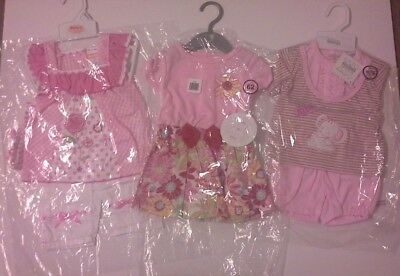 Bundle of baby girls summer clothes sets size 0-3 months BNWT