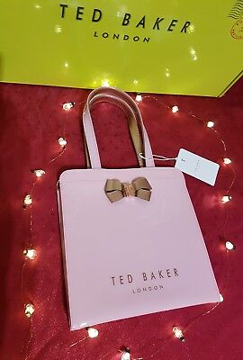 9af2a1262ca3c 💖Ted baker Kriscon bow detail small icon bag pale pink gold- Fab design!
