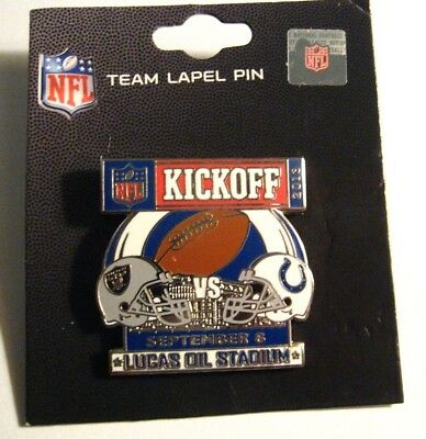 Indianapolis Colts Oakland Raiders Pin - 2013 NFL Lucas Oil Stadium Football Pin