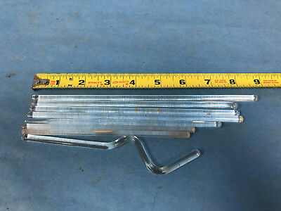 """Various Custom Glass Stirring Rods 6"""" to 8.5"""" Lot of 8"""