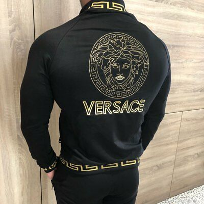 VERSACE Men's Tracksuit - NEW EMBROIDERED LOGO