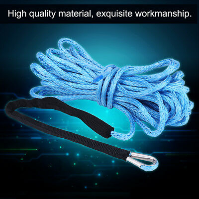 6600LBS Synthetic Winch Line Cable 1/4'' 50ft Rope with Sheath for SUV ATV UTV