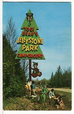 1974 - Yogi Bear's Jellystown Park Campground in Wisconsin Roadside Postcard