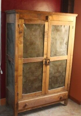antique pie safe cupboard farm house country living baking storage