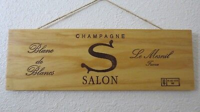 Salon Champagne Wood Crate Panel Stained with Protective Finish Art (P2712)