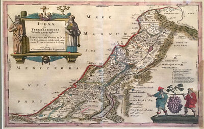 1658 Jan Jansson Map of the Holy Land and Israel