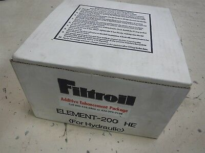 New Filtroil Element- 200 HE Additive Enhancement Package & Hydraulic Fluid  P11