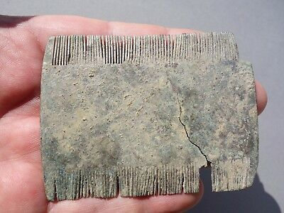 amazing ancient Roman bronze - silvered comb with inscribed