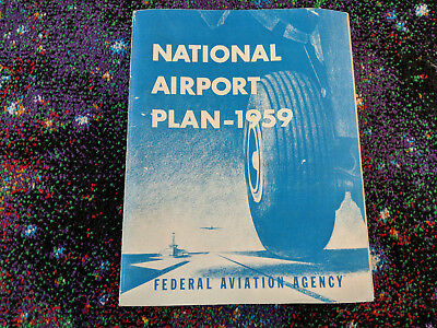 1959 National Airport Plan Federal Aviation Agency Collectible Large Book