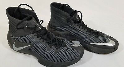 sneakers for cheap 3b2af 7e020 NIKE ZOOM CLEAR OUT Black Basketball Shoes Men s 9.5 (844370-001)